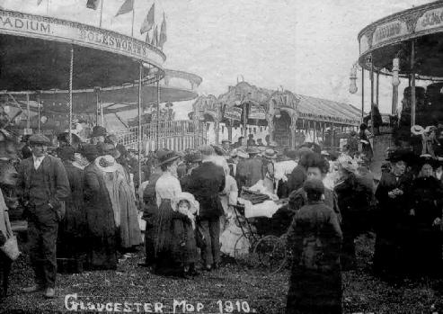 old Gloucester Mop Fair in 1910.