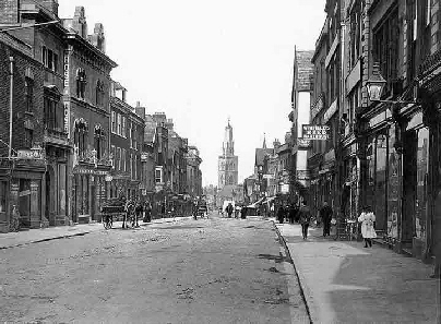 Westgate Street at the turn of the 1900s