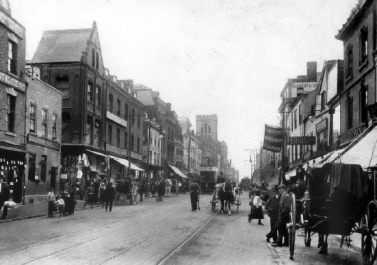 This is Northgate Street at the turn of the 20th century