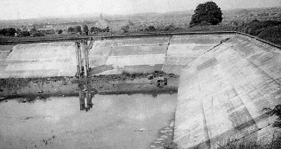 Part of the old reservoir at Robinswood Hill